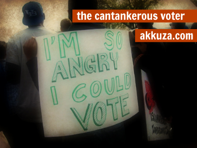 Post image for The Cantankerous Voter