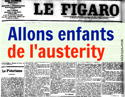 Post image for Allons enfants de l'austerity