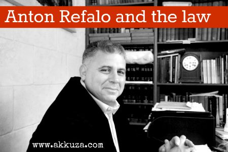 Post image for Anton Refalo & the law
